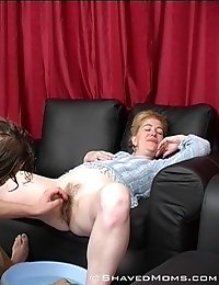 Mature lady enjoys shaving for the first time!