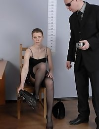Stripped job applicant ready for dirty tests