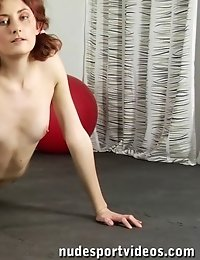 Yoga cutie does dressed and nude asanas