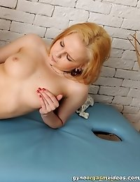Nude blondie going to say goodbye to anorgasmia