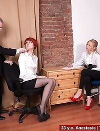 Job interviewers make a candidate undress