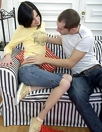 Slim And Hot Alice Enjoys Stiff Cock In Her Pussy.