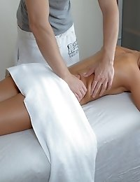 Adorable Blonde Teen With Tempting Tits Licked, Hardcored And Creamed On Massage Table.
