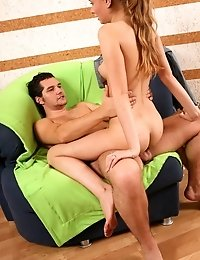 Young Soft Love-holes Creamed With Sticky Cum.