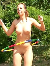 Nude outdoor Indian and classic gymnastics