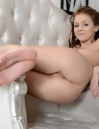 This Nude Model Likes To Raise High Her Super Shaped Butt. Illusion Of Artistic Sculpture Or A Real