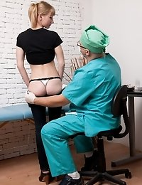 Flexible blondie undergoes several rectal procedures