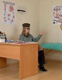 Creepy nude exercises at a military physical exam