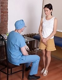 Oral and vaginal submission of a nude patient