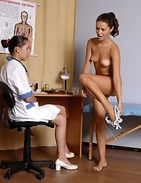 Breast and pussy inspection before a sex test