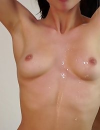 Cock Hungry Cutie Aidra Fox Gets Her Man Wet With Oil Then Lets Him Fuck Her Lush Boobs And Her Crea