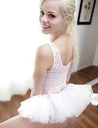 Tiny Blonde Teen Elsa Jean Gives Her Ballet Instructor A Stiffie Ride As He Fucks Her Little Bald Pu