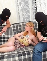 Two Thieves Get More Than They Bargained For At Oksana's Place