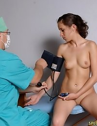 Gyno exam and sports testing of a nude missy