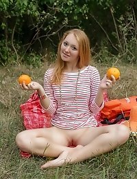 She Likes To Spice Up Her Picnic With Something Sexy So She Strips A Few Clothes To Show Some Of Her