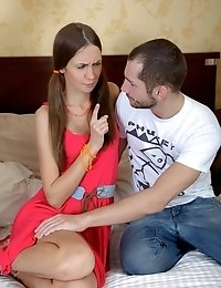 Check The Hottest Threesome Defloration With Karina.