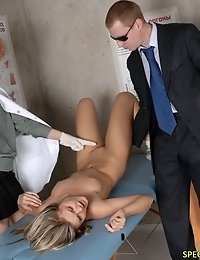 Helpless medical slave for awful experiments