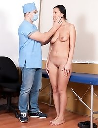 Gyno examination including pussy washing