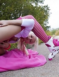 There Is No Better Sight Then When A Sexy Blonde Teen Teases And Masturbates In The Nature Where Eve