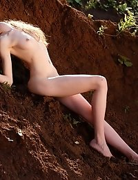 This Sexy Brunette Gets Down And Dirty On The Lap Of Nature As She Gets Sexy And Starts To Play Arou