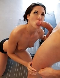 Hot Blooded Spaniard Alexa Tomas Finishes Her Workout By Enjoying A Raunchy Fuck Fest In Her Creamy