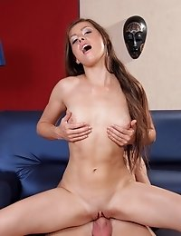 Juicy brunette gets her three holes roughly drilled