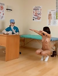 Naked shape and health tests at a physical