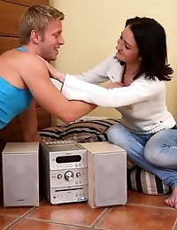 The Girl Has Her Tape Recorder Fixed And Her Pussy Fucked.