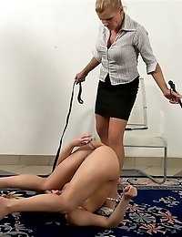 Mature yoga mistress sex-punishes a good trainee