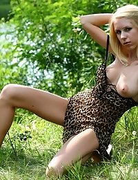 Splendid Striking Teen Has Come To The Picturesque Green Valley Near The Blue River To Have A Little