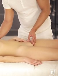 Raven Haired Coed Luna Ora Enjoys An Erotic Massage That Leads To A Juicy Blowjob And A Slick Wet Ba