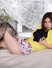 This Brunette Girl Skips Her Naptime And Has Some Sexy Fun Instead, To Show You An Ass And Pussy You