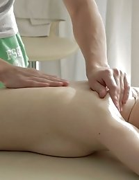 Perfect Blonde Teen Babe Enjoys The Kneading After A Hard Day, Exclusively When The Master Is Her Bo