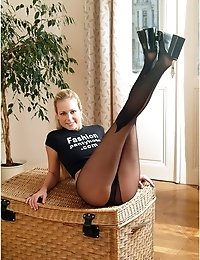 Long legs in fashion pantyhose