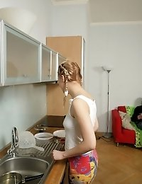 Young Teen Fucked Senseless At The Kitchen