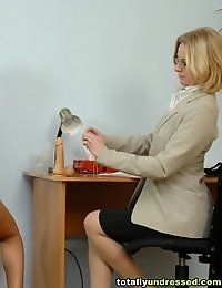 Double penetration test at a toy porn interview