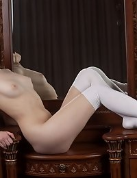 This Wonderful Classy Doll In Stockings Has A Few Tricks Up Her Sleeve To Make You See Her Hot Femin
